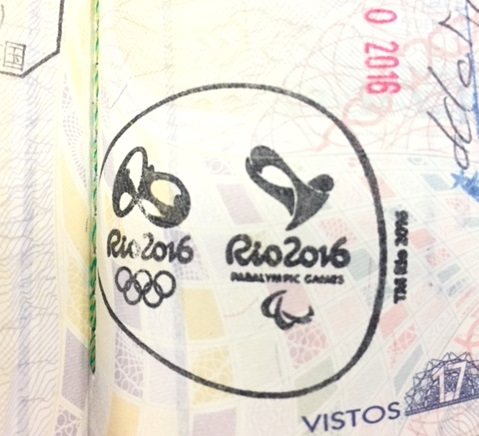 リオ五輪の間の特別入国スタンプ